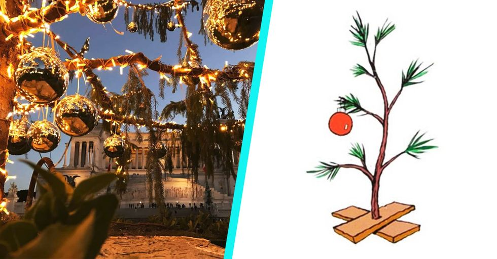 Rome Spent $57,000 on the Most Pathetic Excuse for a Christmas Tree We've Ever Seen