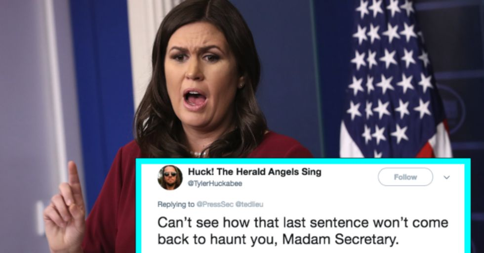 Sarah Huckabee Sanders Trolled Endlessly After Accusing a Congressman of Tweeting Too Much