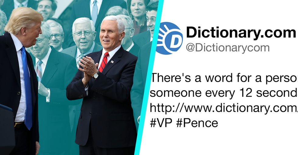 Dictionary.com Just Trolled Mike Pence with One Epic Tweet