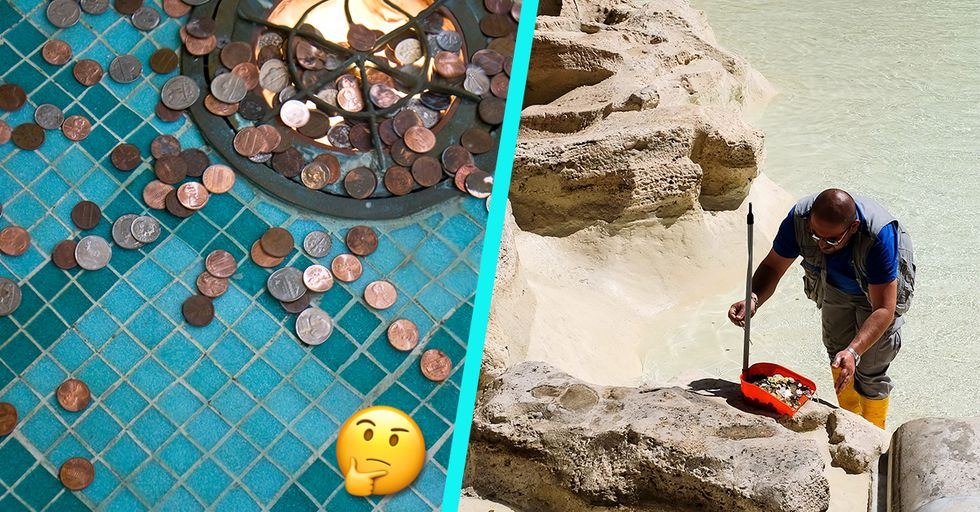 This Is What Actually Happens to the Coins You Throw Into Fountains When You Make a Wish