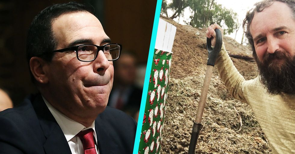 This Man Sent a Box of Actual Manure to Treasury Secretary Steve Mnuchin for the Holidays