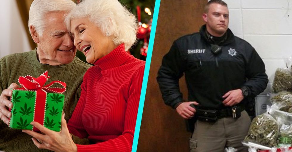 These Grandparents Got Caught Bringing Their Loved Ones the Wackiest, Most Illegal Christmas Gift Ever