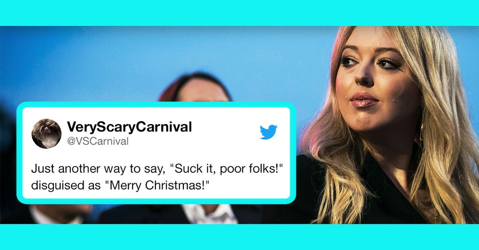 Tiffany Trump Is in Hot Water for Her Totally Tone-Deaf Christmas Video Featuring Sister Ivanka