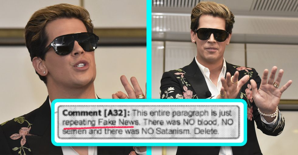 Milo Yiannopoulos's Editor Just Ripped Him a New One in the Notes of His New Manuscript