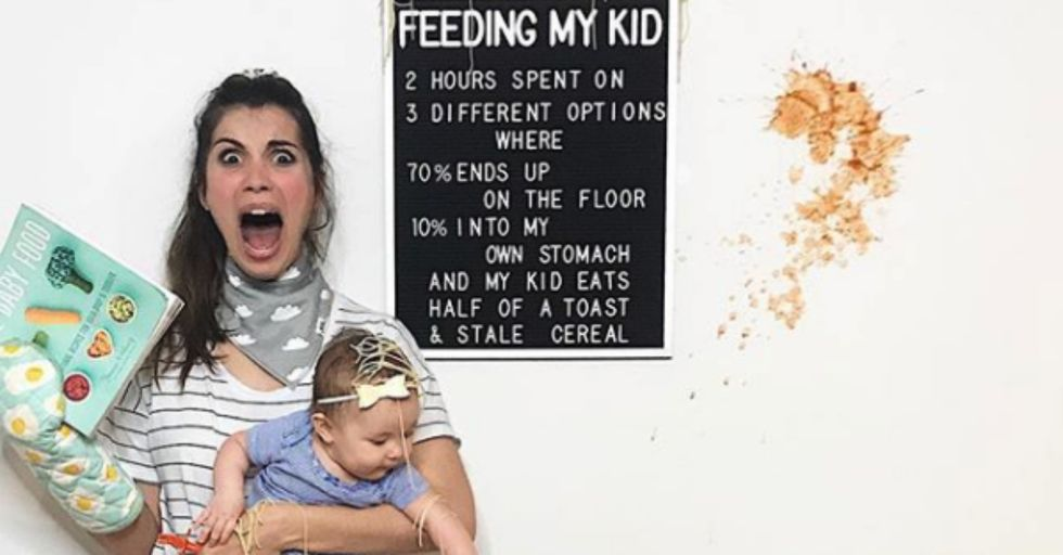 Watch This Mom Hilariously Share the Realities of Pregnancy Using Only a Chalkboard