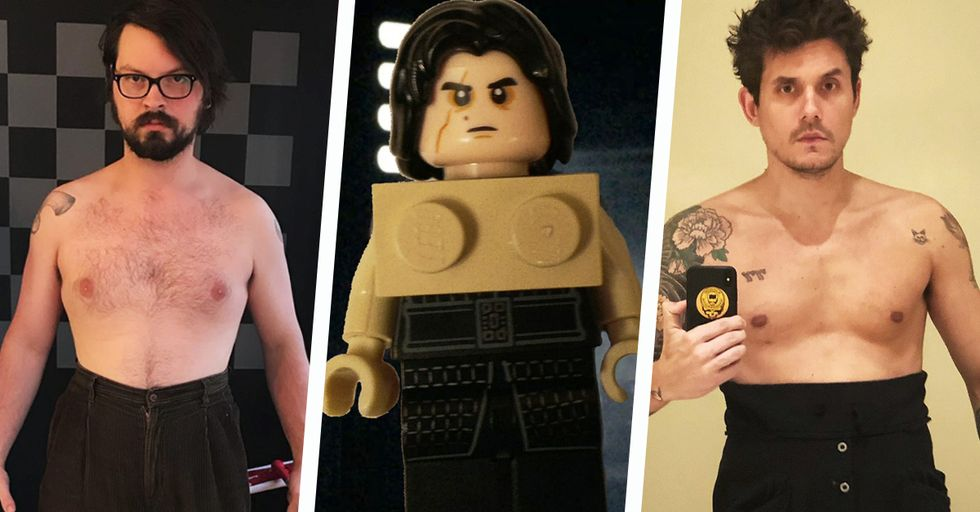 John Mayer Is Going Shirtless for the Hilarious and Hot #KyloRenChallenge