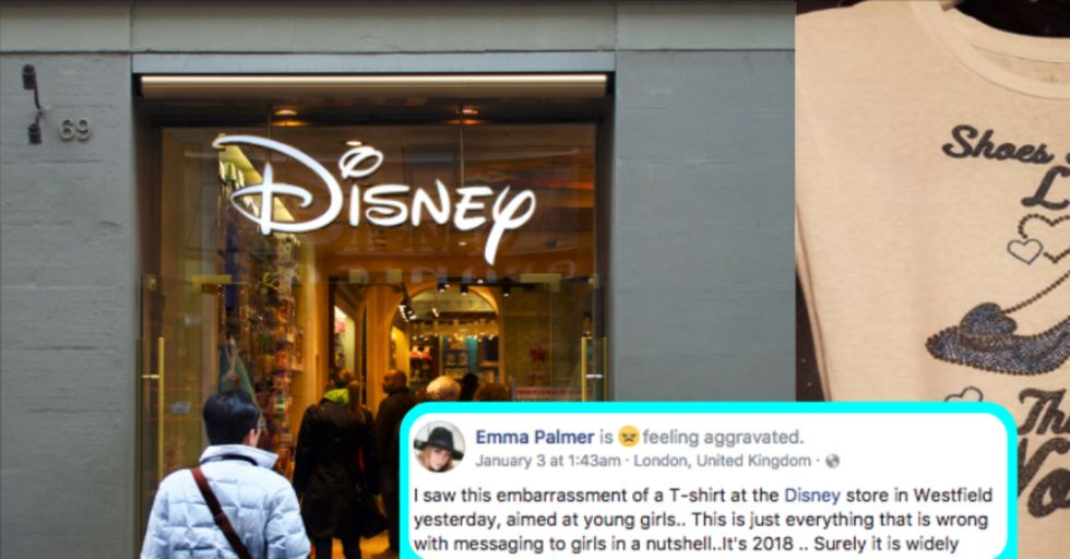People Think This Disney T-Shirt Is Sending a Harmful Message to Young Girls