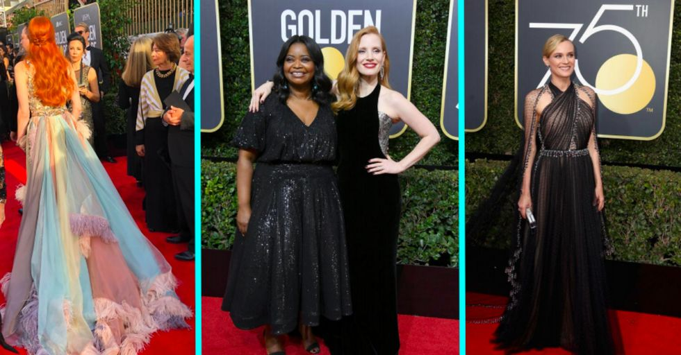 Only Three Celebrities Chose Not to Wear Black to the Golden Globes