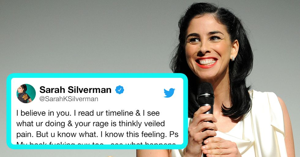 Sarah Silverman Responds to Sexist Twitter Troll With Empathy, and Ends up Changing His Life