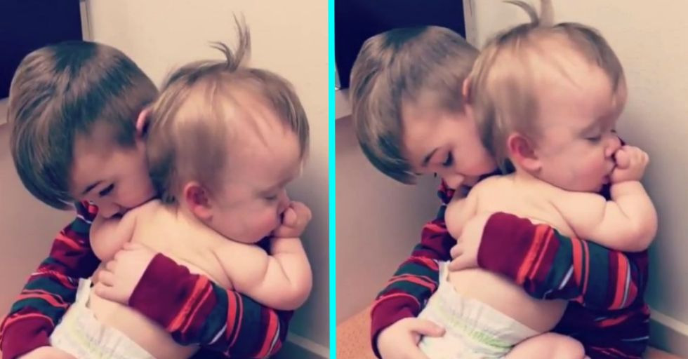 People Are Having Strange Reactions to This Video of a Boy Rocking His Sister to Sleep