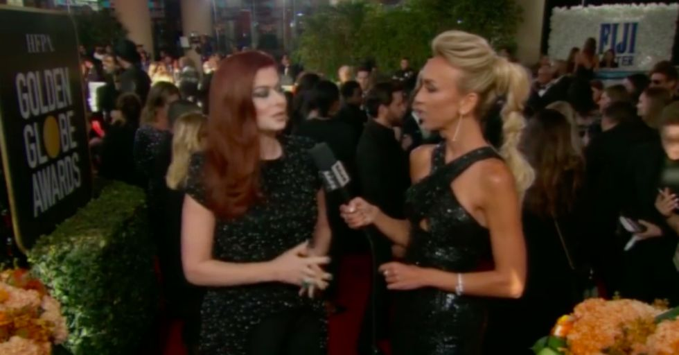 Debra Messing Just Blasted E! Network While Talking to an E! Reporter