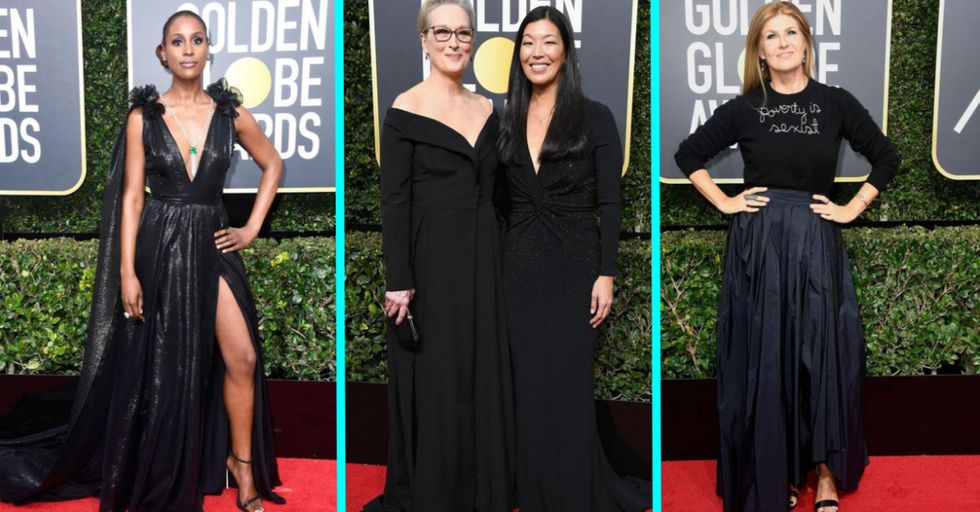 The Celebrities Making a Statement in Black at Tonight's Golden Globes