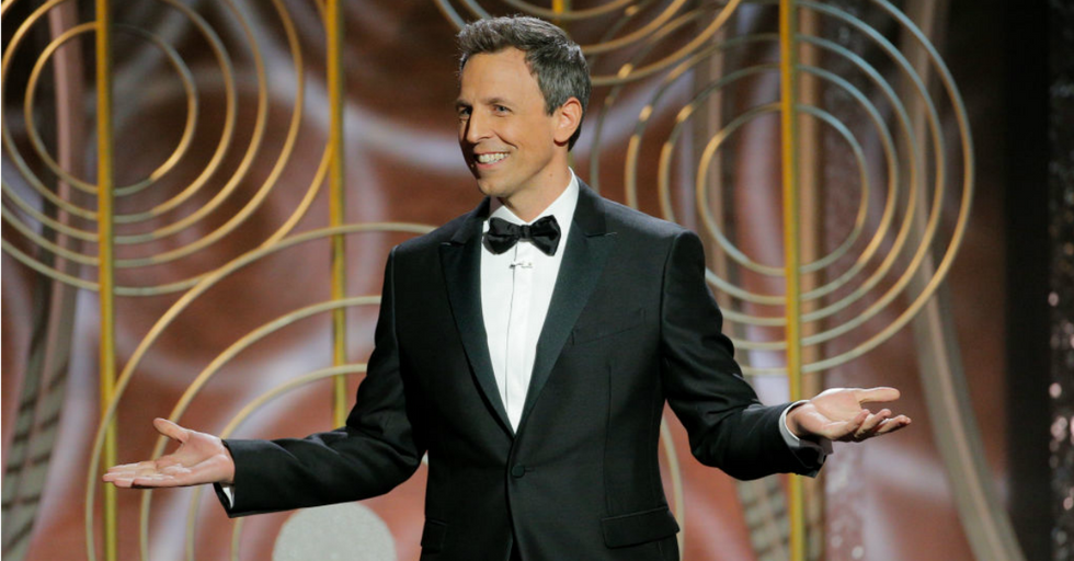 Seth Meyers Fires at Hollywood's Most Hated Men to Open the Golden Globes