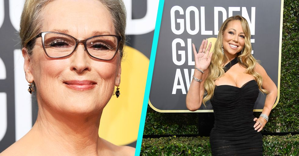Mariah Carey Stole Meryl Streep's Seat at the Golden Globes, but Called It an Accident