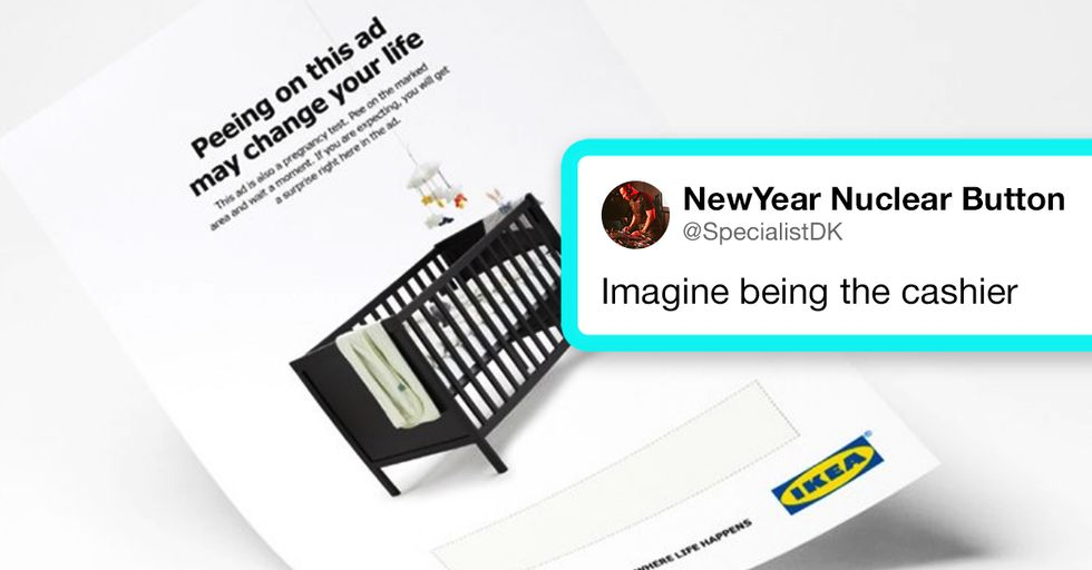Ikea Wants Women to Pee on Their Catalogue to Find Out If They're Pregnant
