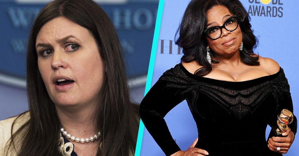 Sarah Huckabee Sanders Apparently Disagrees With Oprah's Nonexistent 'Political Policies'