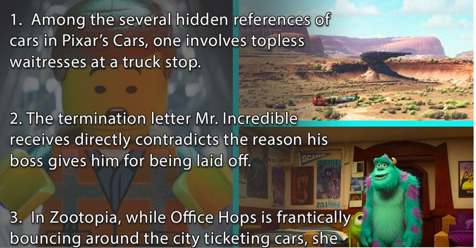 You May Have Missed These Small Details in Your Favorite Animated Movies