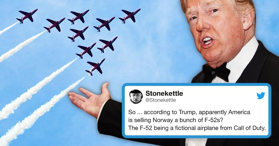 Trump Is Bragging About Selling a Fighter Jet That Only Exists in a Video Game