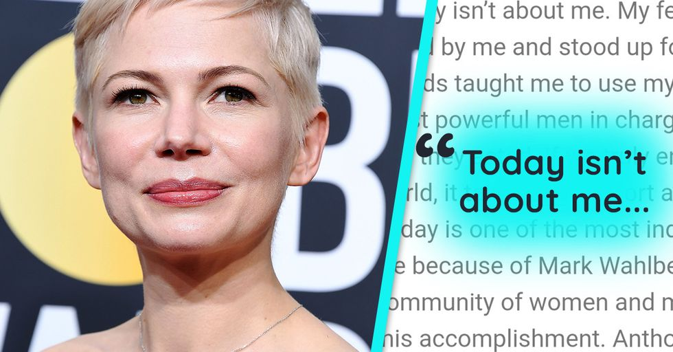 Michelle Williams Appreciates Mark Wahlberg's Donation, but We're Not Ready to Applaud Yet