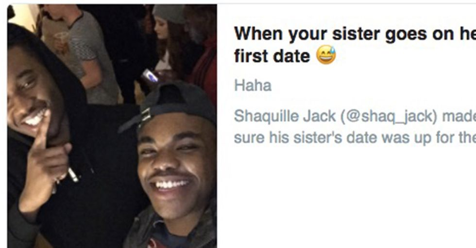 Older Brother Mortifies His Sister by Grilling the Ever-Loving Crap out of Her Poor Date