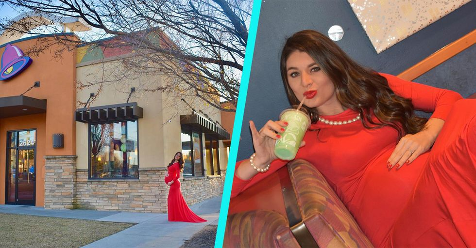 Taco Belle: Mom-To-Be's Fast Food Maternity Photo Shoot Is Both Hilarious and Glam