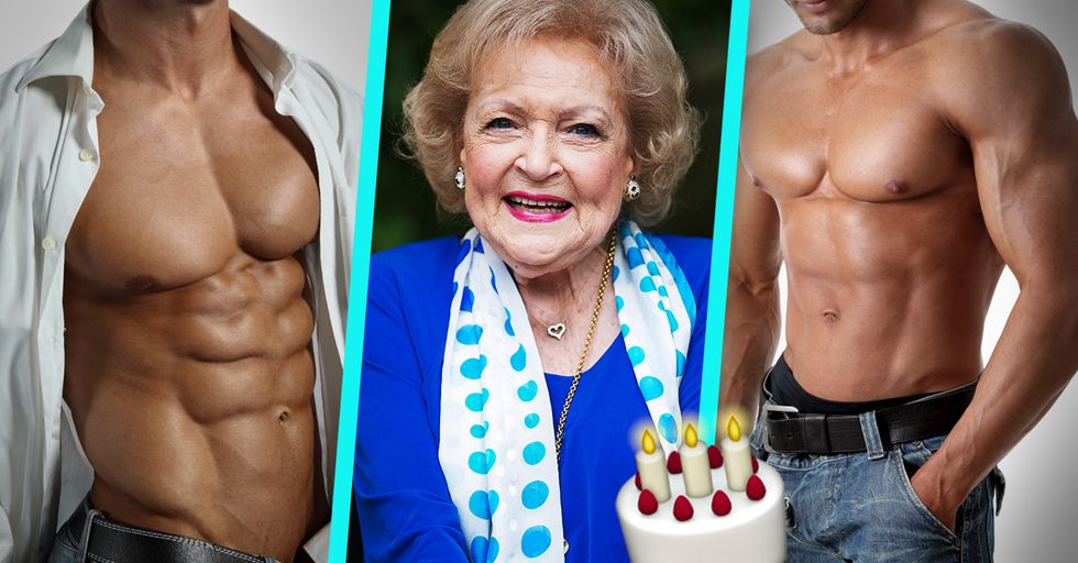 Betty White, Surrounded by Hunks on Her 96th Birthday, Is Everything We Want to Be