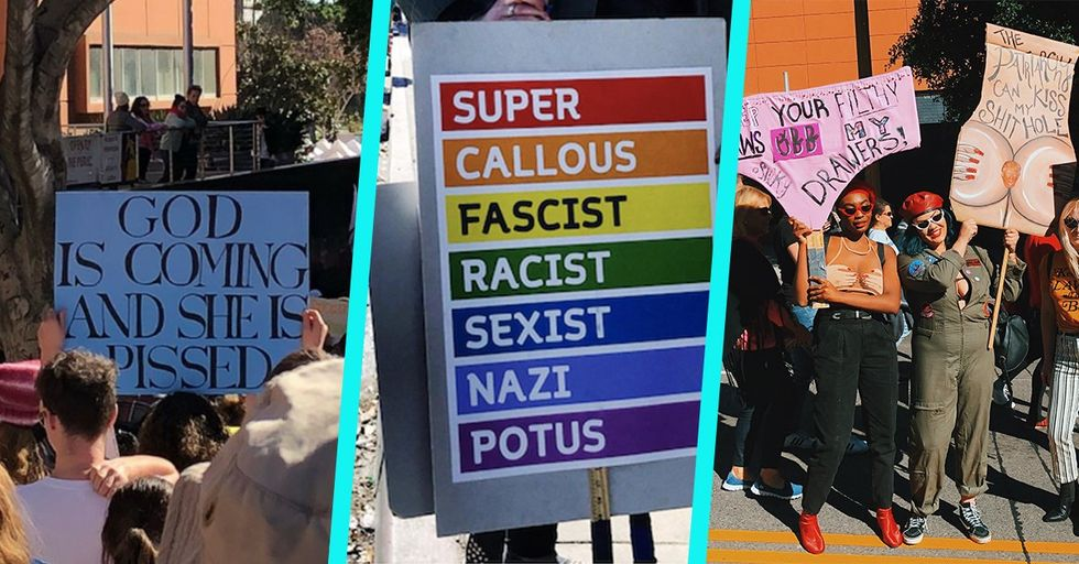 The 10 Funniest, Most Creative Women's March Signs We Saw Today