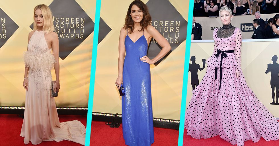 Actresses Swap Somber Black for Celebratory Color on the SAG Awards Red Carpet