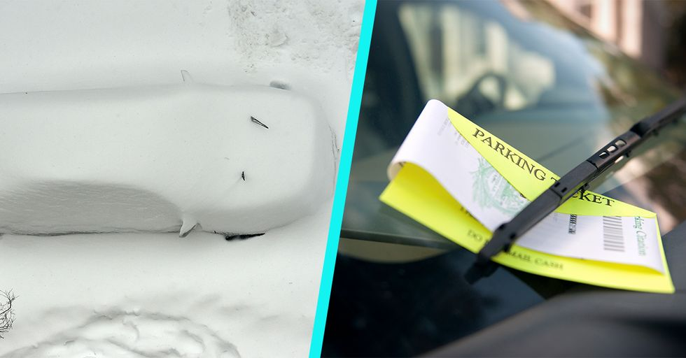 Canadian Guy Creates a Snow Sculpture so Epic It Earns Him a Parking Ticket