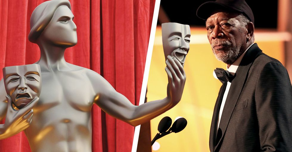 Morgan Freeman Called out the SAG Award Statuette for Being 'Gender Specific'