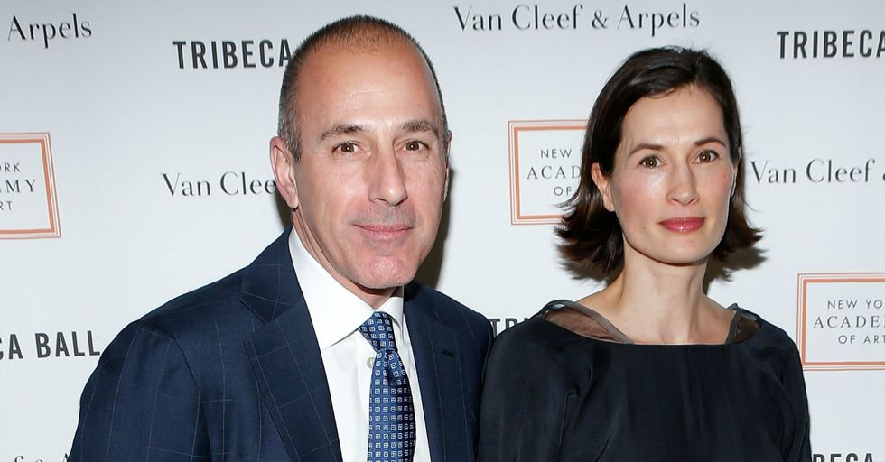 Matt Lauer's Wife Just Kicked Him out of the House, but Their Entire Saga Is Pretty Insane
