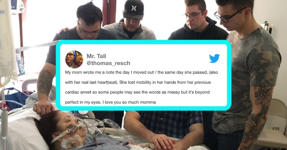 Man Poignantly Tattoos His Mom's Final Heartbeats on His Arm in Touching Tribute