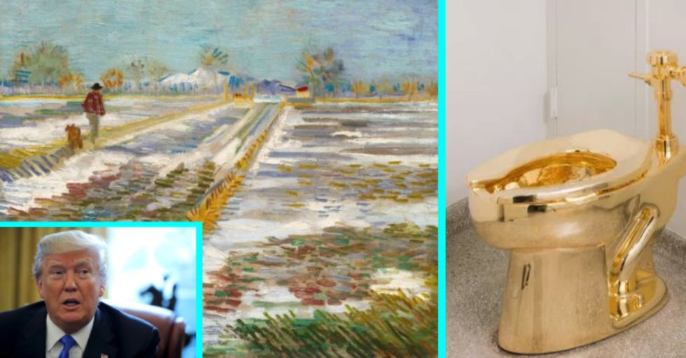 Trump Requested a Van Gogh Painting for the White House, Was Offered a Gold Toilet Instead