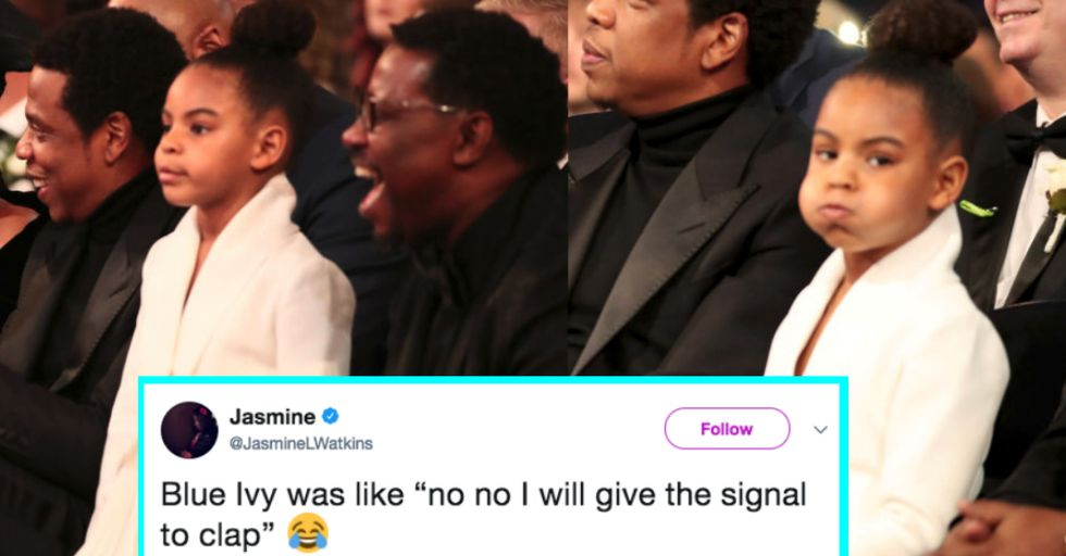 Blue Ivy Shushed Beyoncé and Jay-Z at the Grammys and Became Instantly Iconic