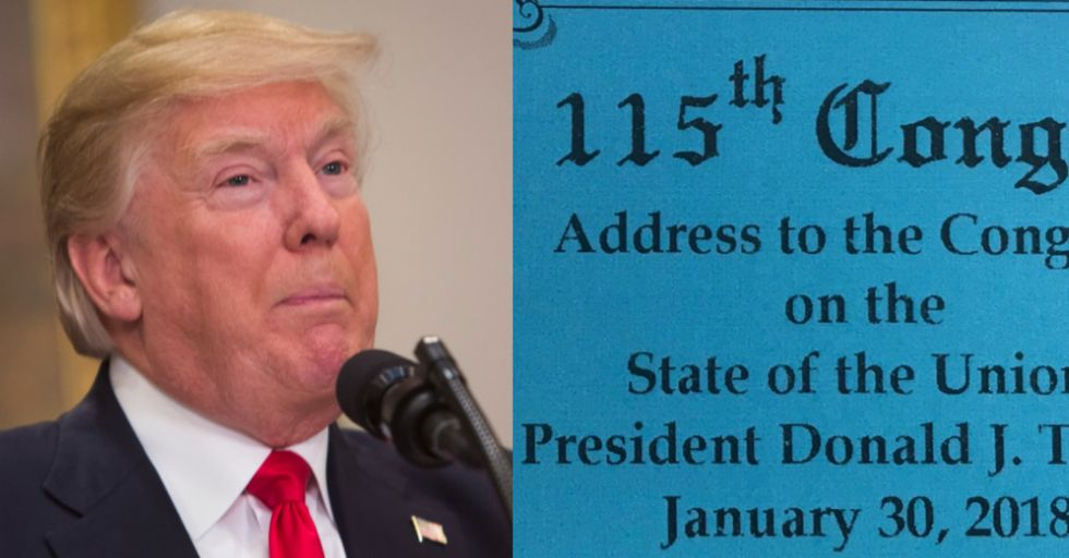 Trump's State of the Union Tickets Were Misspelled. That Bodes Well.