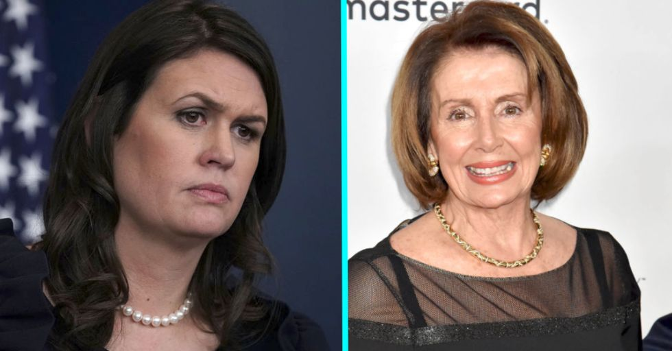 Sarah Huckabee Sanders Told Nancy Pelosi to 'Smile More' and Now the Internet Is on Fire