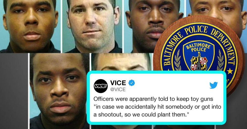 Baltimore Police Officers Caught Planting Guns on Unarmed Victims They Shot
