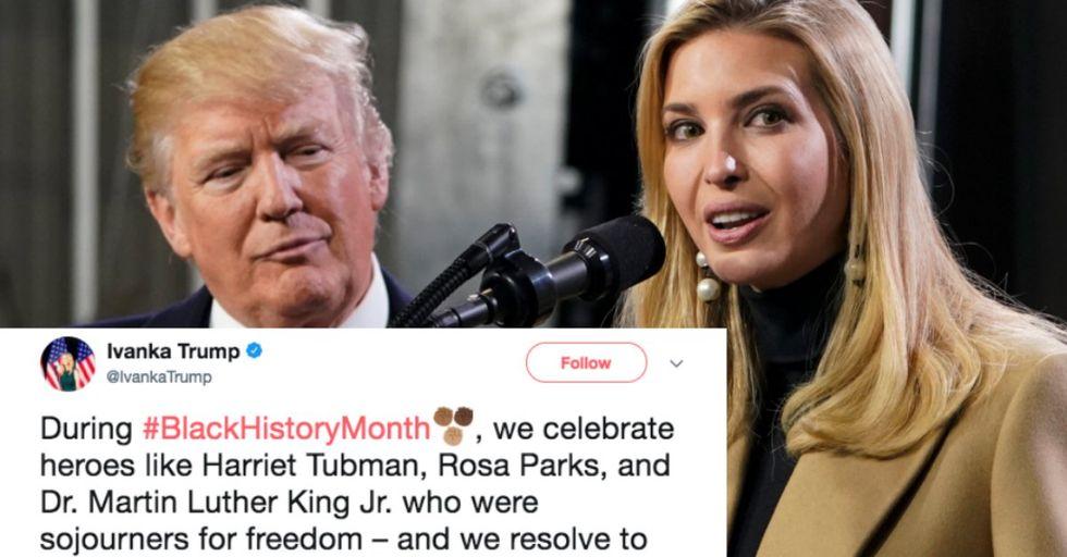 Ivanka Trump Slammed for Insensitive Black History Month Tweet