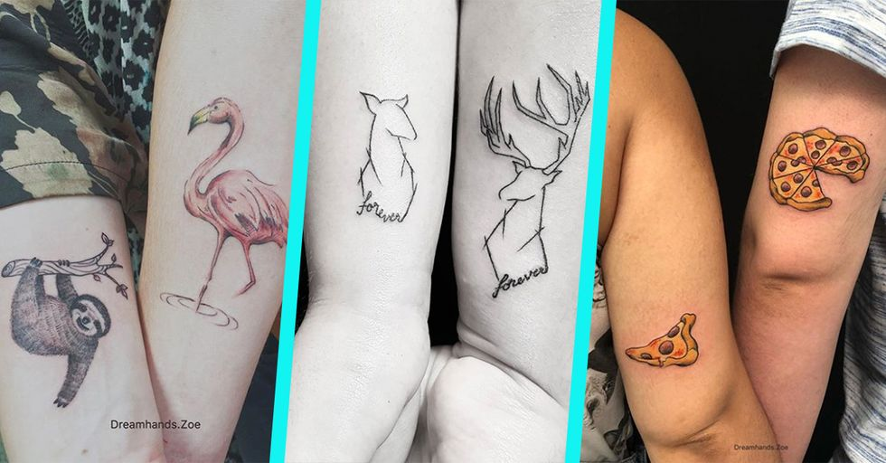30 of the Cutest Couple Tattoos We've Ever Seen