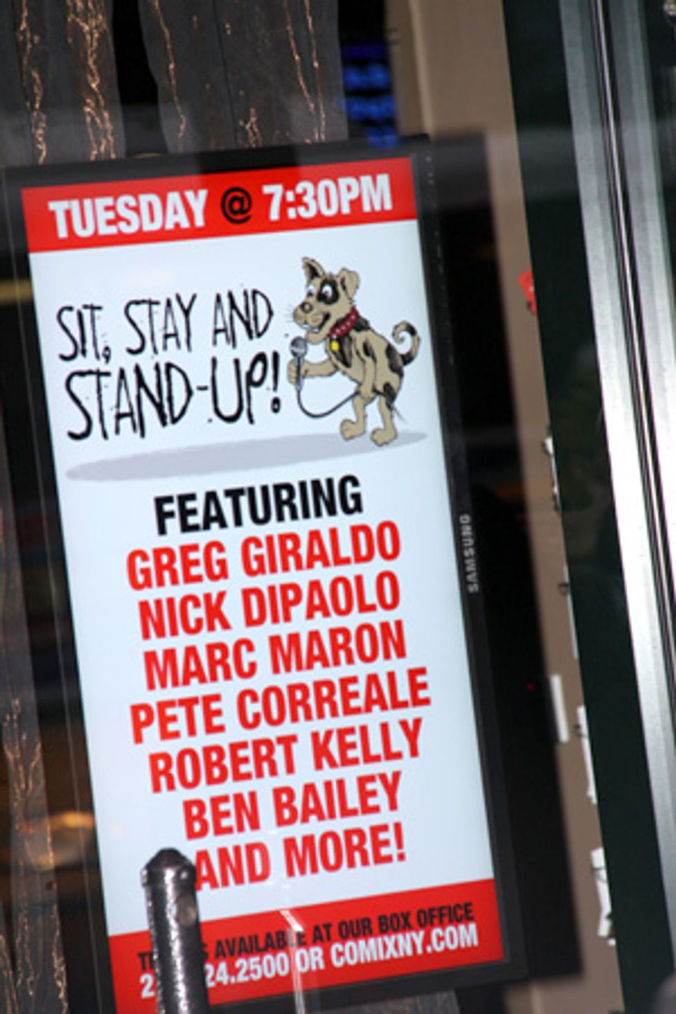 About Last Night... Sit, Stay and Stand-Up at Comix