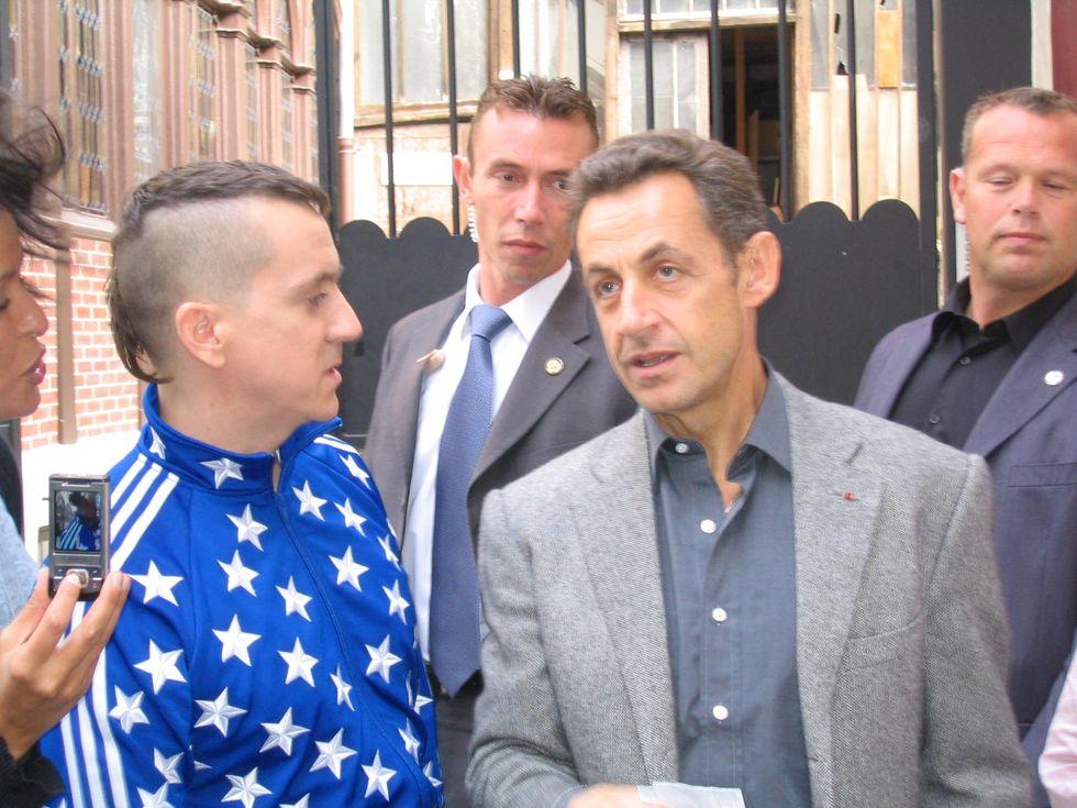 Sarkozy Checks Out Jeremy Scott!