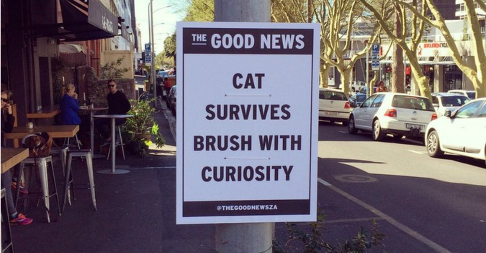 This Artist Delivers 'The Good News' With Positive Street Signs