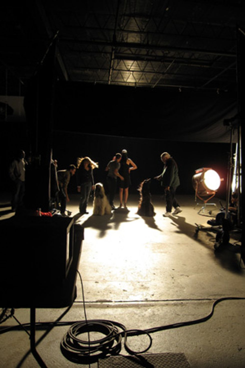 Scenes From the Fires of Rome Music Video Shoot