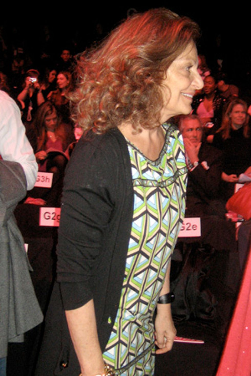 A Quick Chit-Chat With Diane von Furstenberg at the Barbie Show