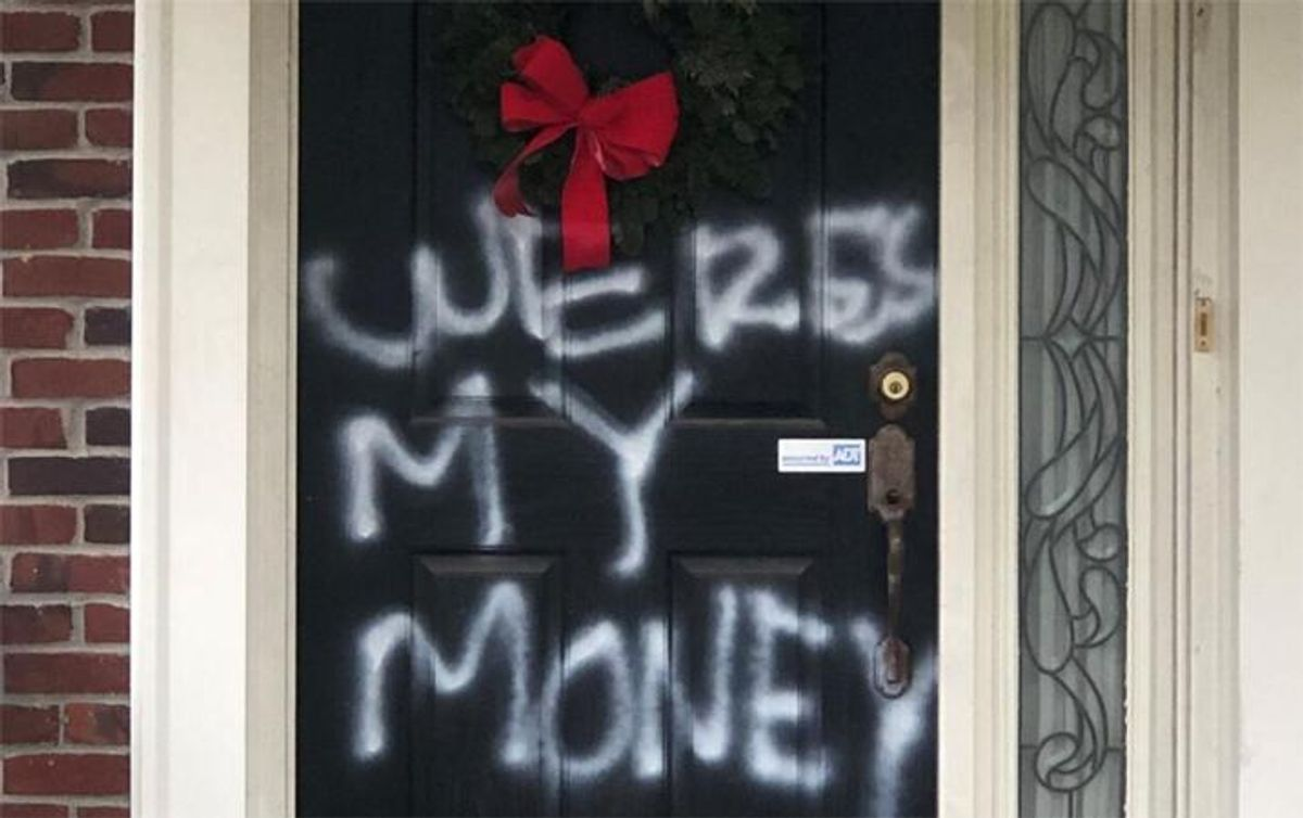 'Where's my money?' Mitch McConnell's house vandalized after blocking COVID aid