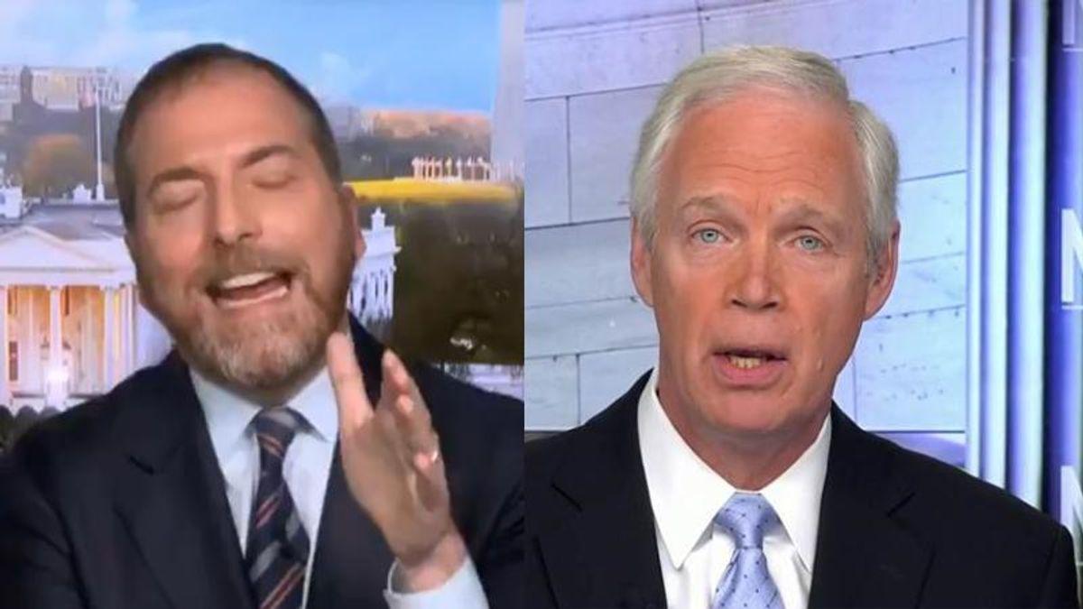 'I've had enough of hearing this': Chuck Todd snaps at Ron Johnson for pushing debunked conspiracies