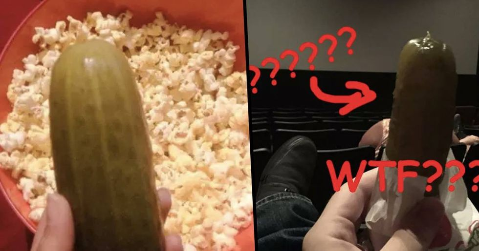 Apparently In Texas You Get Pickles When You Go To The Movies