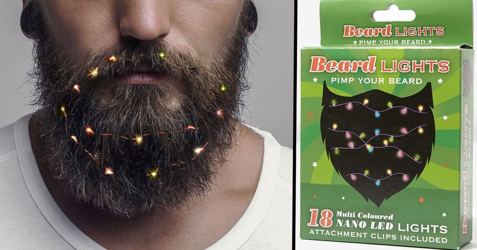 Now There's Christmas Fairy Lights for Beards