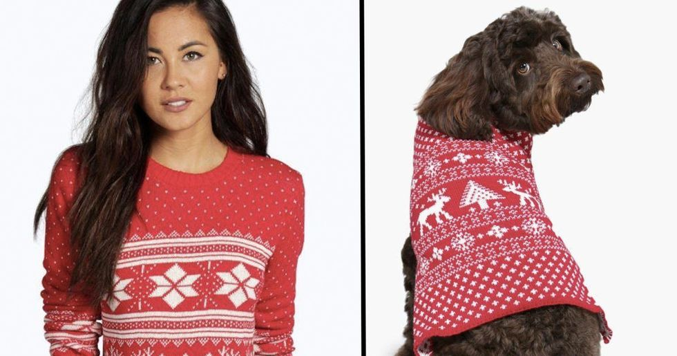 You Can Now Get Matching Dog And Human Christmas Jumpers
