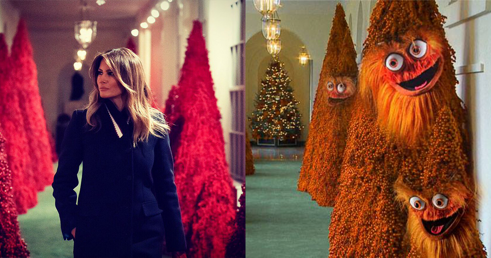 People Are Losing It Over Melania Trump's White House Christmas Decorations